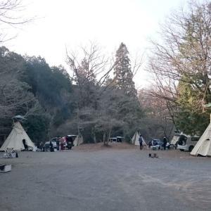 ■アウトドアベース犬山で親娘ティピーキャンプ(愛知県犬山市)
