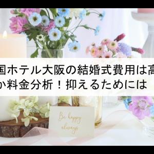 帝国ホテル大阪の結婚式費用は高いのか料金分析!抑えるためには