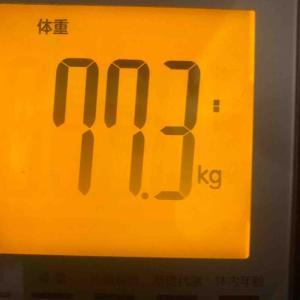 夜の体重と体脂肪!運動とごはん記録!