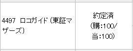 【IPO】ロコガイド(4497)が当選しました!! ありがとうございます!