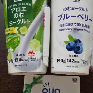 【優待ご飯】原田工業(6904)のクオカードでセブンの飲むヨーグルト2つ買ってきました(^^)