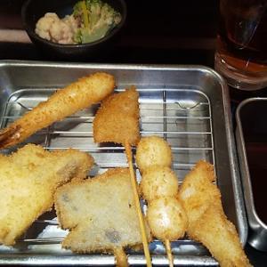 【優待ご飯】クリエイト・レストランツ・ホールディングス[クリレス] (3387)の「串あげBANZAI」で「串揚げ6本盛り合わせ」を食べてきました♪