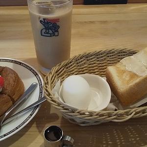 【優待ご飯】コメダホールディングス (3543)の「コメダ珈琲店」で「カフェオーレ、モーニングA(定番ゆでたまご)、ミニシロノワール」を食べてきました♪