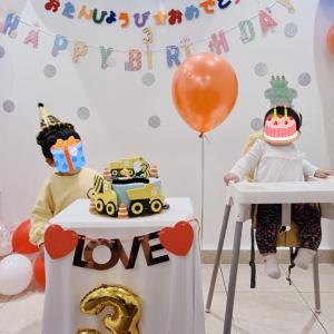【長男3歳の誕生日】自宅でプロっぽくできるDIY誕生日会