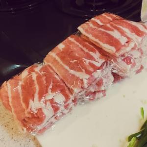 【節約】580円の豚バラ肉が見事バラバラになった