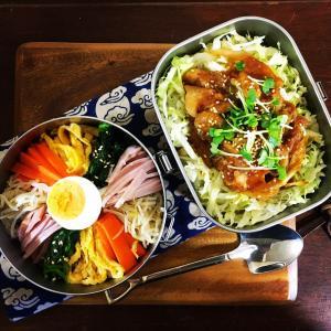 冷麺と豚の生姜焼き大好評弁当
