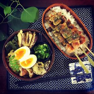 焼き鳥と天ぷら盛り合わせ冷やしうどん弁当