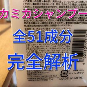 KAMIKAカミカシャンプー全成分完全解析。本当に安全なのか、シリコンのことまで徹底言及。