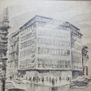 1953年のスタインウェイハウス、パンフレット(ドイツ・スタインウェイ工場発行)