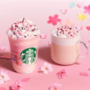 2020年スタバの桜!さくらミルクプリンフラペチーノ&さくらミルクラテ