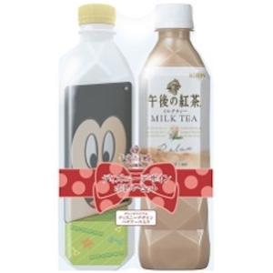 ミッキー&フレンズの顔型パスケース付♪キリン 午後の紅茶 ディズニーデザインボトルセット