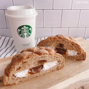 ローソンのコーヒーメロンパンとキリマンジャロコーヒー