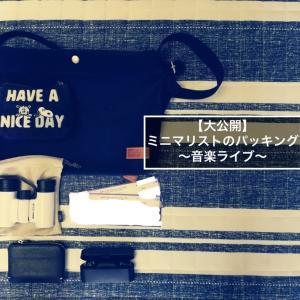 【大公開】ミニマリストのパッキング~音楽ライブ~