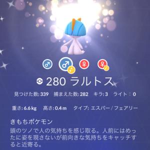 【ポケモンGO】「ラルトス」コミュニティディ結果報告