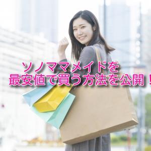 ソノママメイドを最安値で買えるのはどこ?徹底調査した結果を大公開!