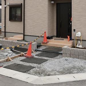 速乾コンクリートで寒冷地の冬場でも進められる1月の外構工事