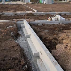 完成に大分近づいた分譲地の工事の様子を見に行って参りました。