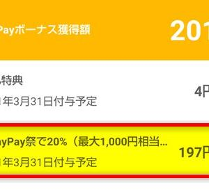 超PayPay祭 最大1,000円相当 20%戻ってくるキャンペーン