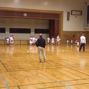 平日体育館練習⚾