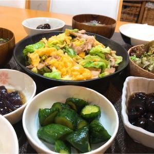 【晩ごはん献立】ナスの煮びたしや黒豆や黒々食卓~地味すぎるおかず~