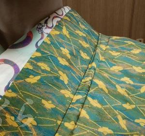 ふくら雀柄の着物