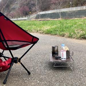"""ウォーキングの途中で""""チェアリング""""してみる 〜サクラの下でコーヒーを、琴似発寒川河畔で一休み〜"""
