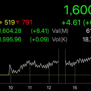 【タイ株】ついに1,600突破のタイSET指数