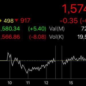 【タイ株】SET指数が下がって保有株が下がるのはいいけど、保有株だけ下がるのは恐怖