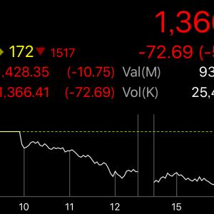 【タイ株】タイ株SETは5%を超える下落、そしてAAV損切り約53万baht