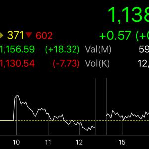 着実に株価が騰がりつつあるタイ株。そろそろ落ちないかな。