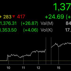 謎の株価上昇継続中