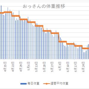 体重変化 2020年7月8日~7月14日  恐怖の体重減少停滞期