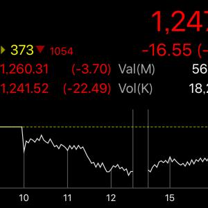 株価は下げるよどこまでも。