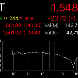 一時4.5%下落したSET指数 阿鼻叫喚のパニック売り
