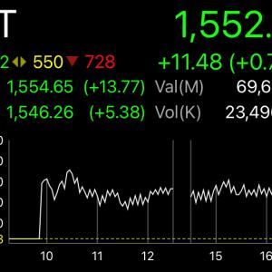 タイ株価調整中の箸休め上昇か、転換点か。