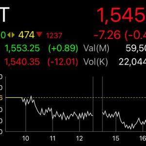 やっぱりタイ株下落の23日の金曜日