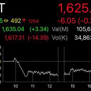 とりあえずサポートラインで反発したタイ株SET指数