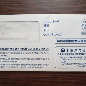 【木更津市】特別定額給付金の申請書が来ました♪