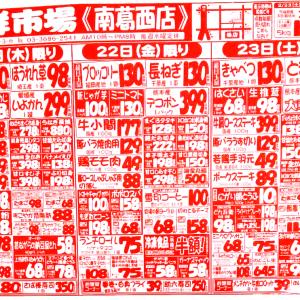 スーパーチラシ!南葛西新鮮市場~2月21日(木)から24日(日)~