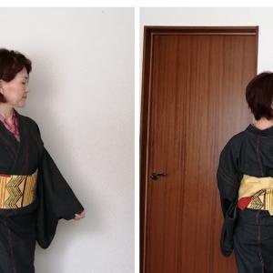 母さんのデニム着物コ―デ~羽織とアンサンブルで着てみた日