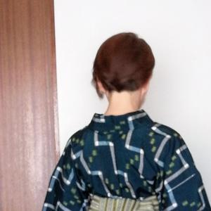 今日も綿麻着物、着物は似合わせ幅の広い衣服