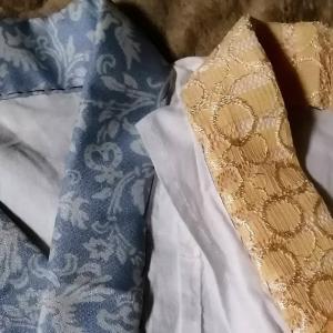 新しい半衿は気持ち良し♪素敵な感触「さんび」の着物