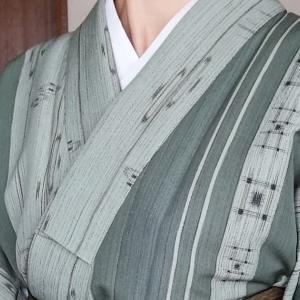 襦袢に着物に名古屋帯、オールポリの組み合わせ