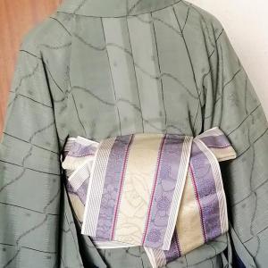 稽古に行くならコ―デ、色長襦袢に透ける紗の小紋はどう?