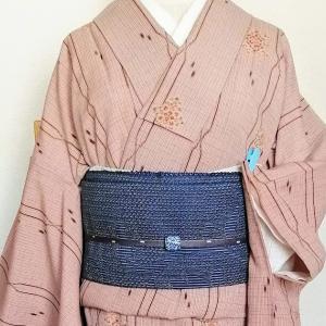 居酒屋コ―デ、お酒の席でも気楽な洗える着物と帯