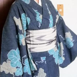 単衣着物に浴衣にと、綿麻の着物が便利でお得