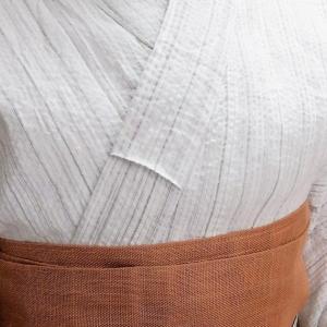 綿麻のしじら織り浴衣とスリップ、衿の裏ワザ