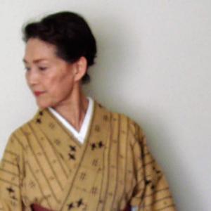稽古の着物~身丈が縮んだ琉球絣の綿麻着物にミンサー帯、そして二人稽古