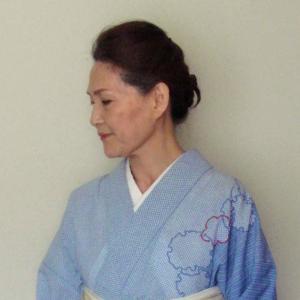 いいね!透けない夏の着物、居敷あての効果|麻の名古屋帯と組み合わせ