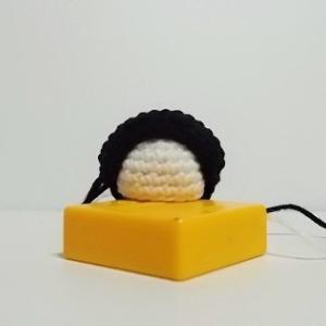 あみぐるみ ミニ雛人形 おすべらかしの編み直し